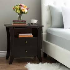espresso finish modern nightstands u0026 bedside tables shop the