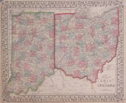 Map Of Ohio State by Antique Maps Of Indiana