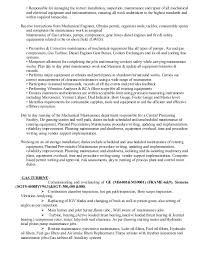 Maintenance Foreman Resume Mechanical Maintenance Supervisor Cv