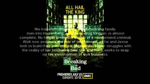Breaking Bad Poster Breaking Bad Season 5 Poster All Hail The King Youtube