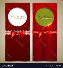 holiday invitation cards elegant christmas invitation cards template vector image