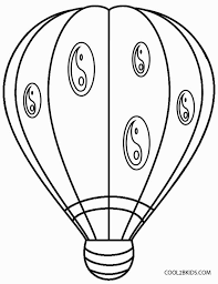 printable air balloon coloring pages kids cool2bkids