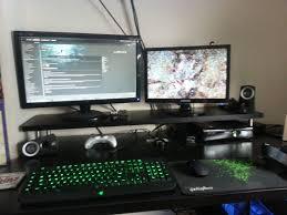 Gaming Desk Setup Ideas Gaming Setup Wallpaper Wallpapersafari