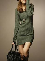 sweater dress casual sheath v neck knitted sweater dress popjulia com
