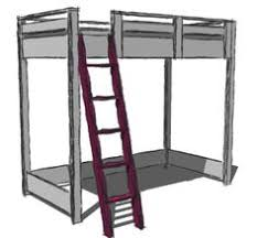 ana white build a loft bed small bookcase and desk free and
