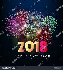 happy new year s greeting cards happy new year 2018 greeting card stock vector 688701088