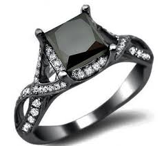 black wedding ring wedding rings with black diamonds wedding corners