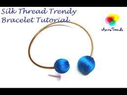 make bracelet with thread images How to make silk thread bracelet using beads tutorial easy diy jpg