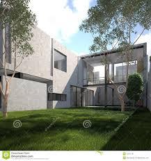 summer modern minimalist house stock image image 10371161