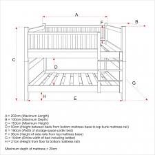 bunk bed measurements bunk bed dimensions between beds roole