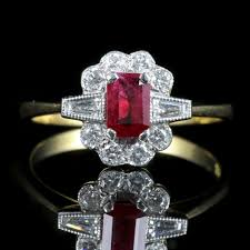 benitoite engagement ring lovely pics of ruby and diamond engagement ring ring ideas