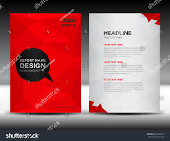 red cover design annual report template stock vector 372836416