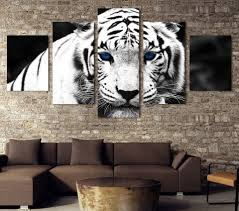 home interior tiger picture aliexpress com buy 5 pieces sets canvas art canvas painting