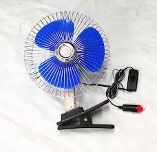 plug in car fan fans 12 24v 8 inch mini oscillating car air fan clip on