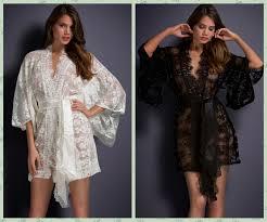 robe de chambre dentelle blanc noir sheer dentelle transparente kimono peignoir intime