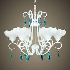 interior simple glass chandelier with golden frame ornaments