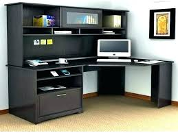 Desk With Hutch Black Black Office Desk With Hutch Oey Me