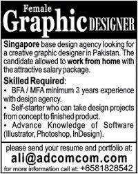 Graphic Designer Job Singapore Design Agency  Feb - Graphic designer jobs from home