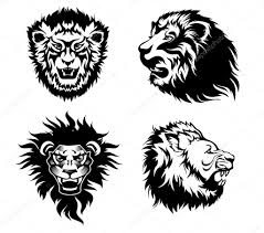 growling lion tattoo u2014 stock vector firin 61911705