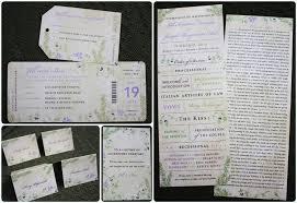 Invitation Programs Green U0026 Purple Rosemary U0026 Flowering Vine Antique Airline Ticket