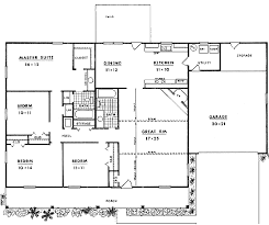 Farmhouse Floor Plan by Country Style House Plan 4 Beds 2 00 Baths 1620 Sq Ft Plan 14 126