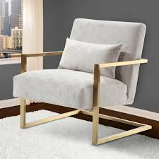 Gold Accent Chair Armen Living Lcskchcr Skyline Modern Accent Chair In Cream