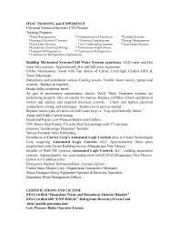 Refrigeration Technician Resume Clifford Baste Hvac Resume X