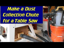 table saw vacuum dust collector make a dust chute for ridgid contractor table saw youtube
