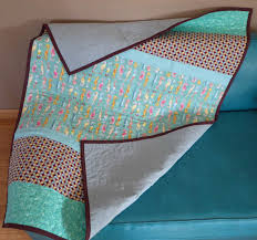 baby child personalized seahorse quilt 36x49 abstract modern