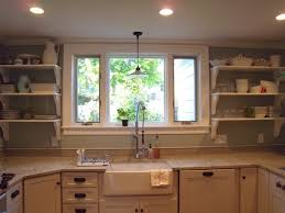 kitchen windows over sink kitchen small u shaped kitchen with white polished wood cabinet