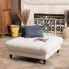 furniture elegant fabric tufted ott footstool coffee table