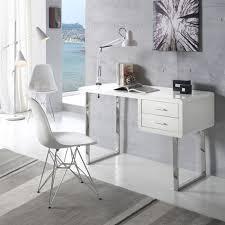 bureau chrome bureau moderne design blanc et chrome maja zendart design