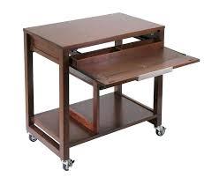 Portable Laptop Desk On Wheels Desk Small Computer Desk With Casters Computer Desk Wheels Ikea