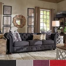 Chesterfield Sofa Knightsbridge Tufted Scroll Arm Chesterfield Sofa By Inspire Q