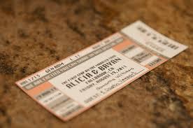 concert ticket escort card place card sample 1 50 via etsy