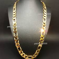 gold man chain necklace images New heavy 94g 12mm 18k yellow gold filled men 039 s necklace jpg
