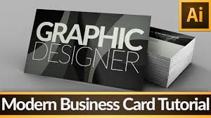 modern business card u2014 illustrator tutorial youtube