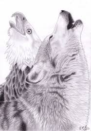 the cry of the wolf and eagle by elkenar on deviantart