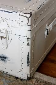 Paint Over Pint Three Dots And A Dash 25 February My Passion For Decor Neglected Steamer Trunk Makeover