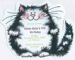 Where To Buy Birthday Invitation Cards 10 Cat Happy Birthday Party Invitations Black And White