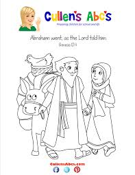 bible memory verse coloring page a new home abraham u0026 sarah