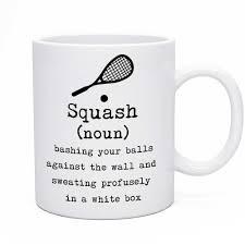 Novelty Coffee Mugs by Funny Novelty Tea U0026 Coffee Mug For The Squash Player Limalima