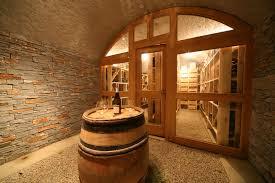 Rangement Pour Cave A Vin Cave Voutée Pointcav Avec Porte De Séparation Et Habillée En