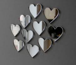 acrylic mirror hearts for wedding decoration packs of 10 2