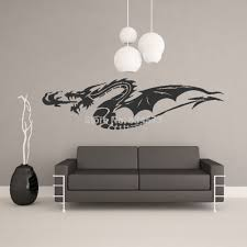 online get cheap removable chinese wall dragon decals aliexpress chinese fire dragon animal wall art stickers wall decal home diy decoration wall mural removable bedroom