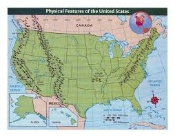 Pics Of Maps Of The United States by Detailed Physical Features Map Of The United States Usa Maps
