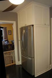 cabinet enclosure for refrigerator how to panel a refrigerator door covering a refrigerator with wood