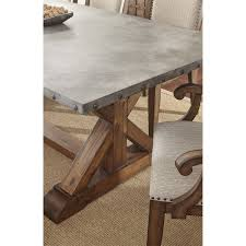 steve silver wy500t wayland dining table in driftwood homeclick com
