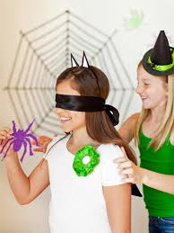 pin the spider on the web halloween party game hgtv
