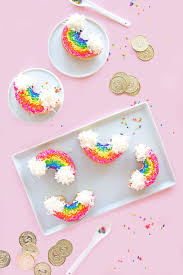 make the cutest rainbow donuts for st patrick u0027s day brit co